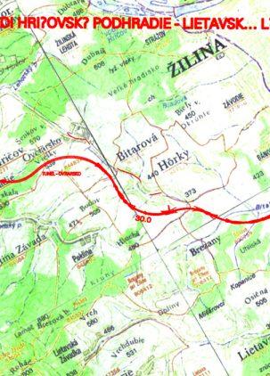 Diaľnica D1 Hričovské Podhradie - Lietavská Lúčka - prehľadná situácia