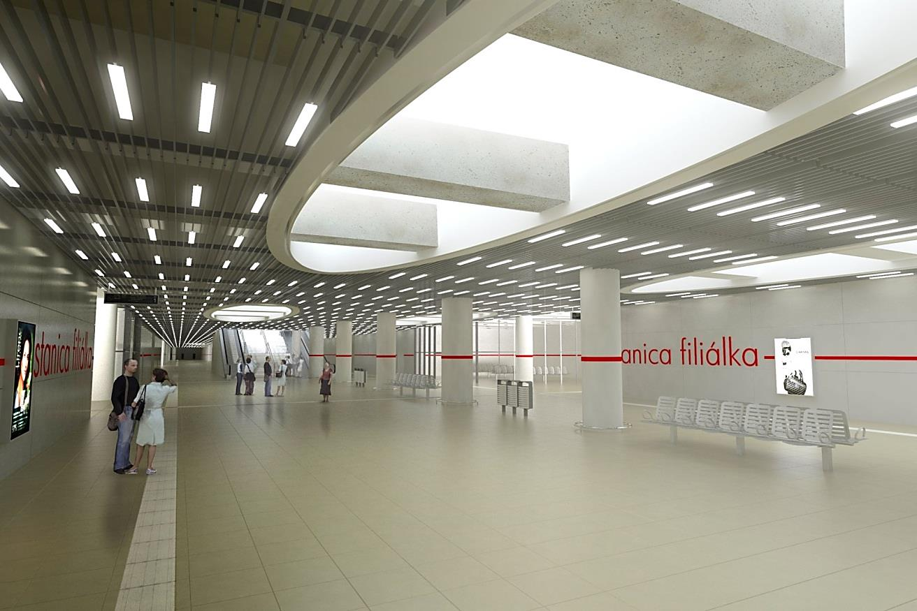 ŽSR, Bratislava predmestie - Bratislava Filialka - Bratislava - Bratislava Petržálka - prepojenie koridorov 1. Etapa - Železničná stanica Bratislava Filiálka